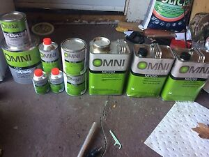 Auto paint, clear, hardener, reducer
