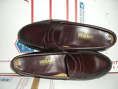 Sebago Hand Sewn Slip On Loafer Shoes Size 15 Cordovan -