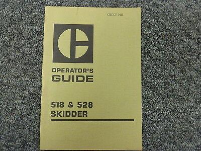 Caterpillar Cat Models 518 528 Skidder Owner Operator Maintenance Manual Book