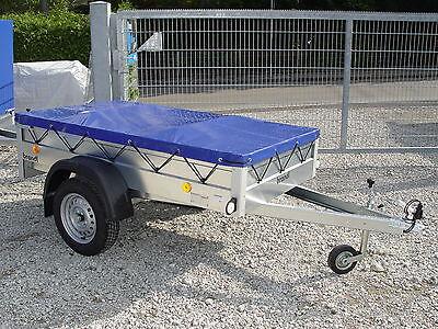 Pkw Anhänger NEU stabil 750kg Ladefläche 2,06x1,11m 13 Zoll Räder Flachplane