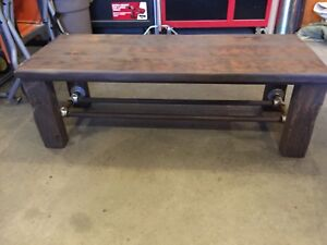 Industrial reclaimed wood coffee and end tables