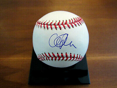 CLIFF LEE 2008 CY INDIANS PHILLIES SIGNED AUTO OML BASEBALL MLB AUTHENTIC GEM ()