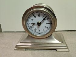 Desk Top Clock pewter Italy