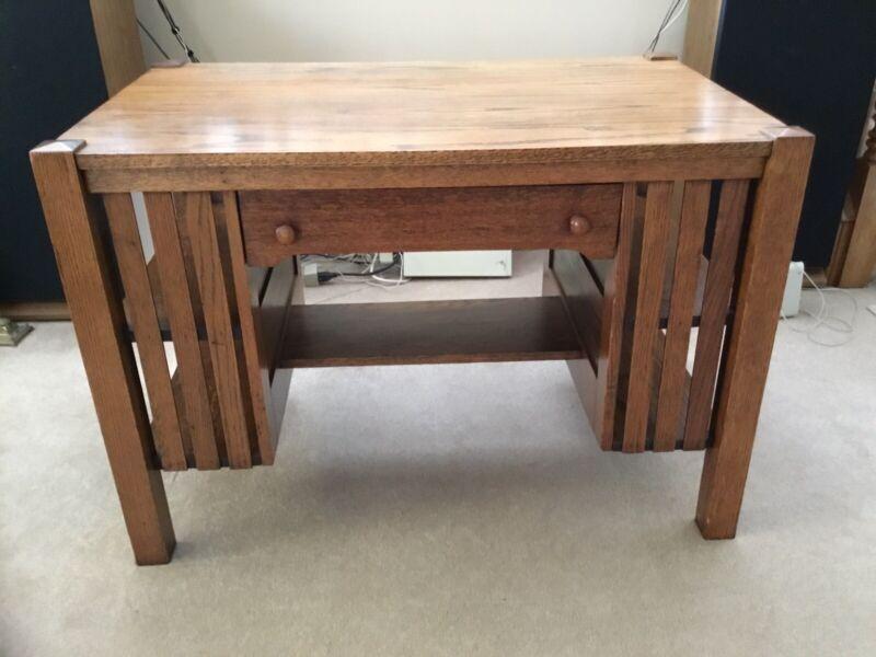 Antique mission oak desk/Library desk