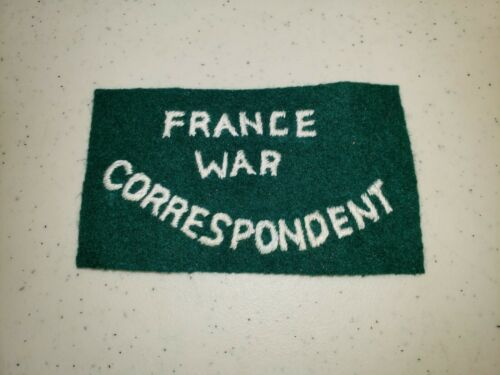 K1193 WW2 France French Army Patch France War Correspondent L3C