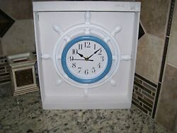 SHIP STEERING WHEEL WALL CLOCK FOR YOUR NAUTICAL WALL DECOR