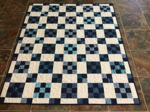 Handmade  Throw, or Lap Quilt— 50 x 60 inches