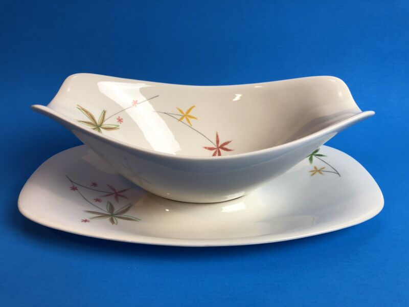 Impromptu by Iroquois China Ben Seibel Design Gravy Boat Spring Flowers Pattern