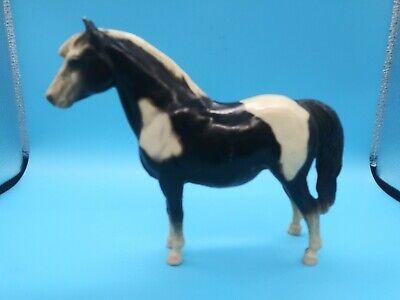 Breyer Horse Shetland Pony #21 1960's Black & White C Hess Mark Vintage