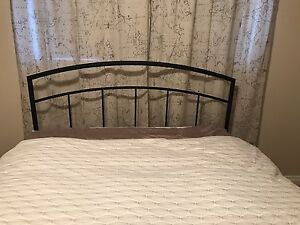 Queen size bed frame, head board and box spring for sale