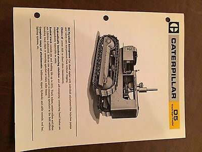 Cat Caterpillar D5tractor Dozer Crawler Brochure Original Antique