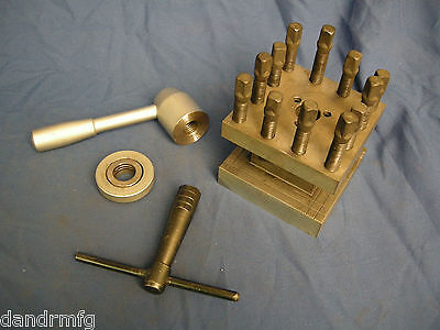 Lathe Turret 4-way Tool Indexing Post 4-14 Square For Cnc Lathe Machine Shop