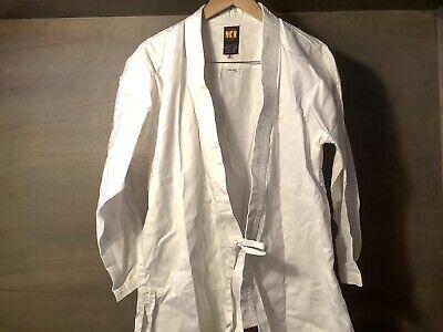 KI International Adult White Karate Gi Uniform: Size 4 USED 100% COTTON