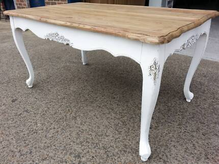 NEW FRENCH PROVINCIAL RECYCLED SHABBY TIMBER DINING TABLE