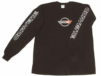 Corvette C4 Long-Sleeved T-Shirt Black Small for sale  Shipping to Canada