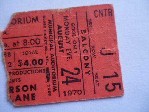 JEFFERSON AIRPLANE Original__1970__CONCERT TICKET STUB