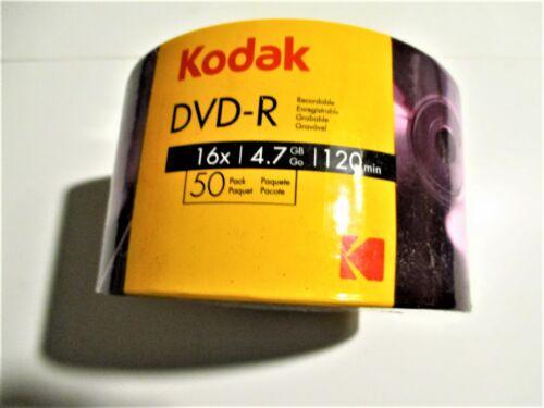 50 Kodak Brand 16x 4.7GB DVD-R  Silver DVD