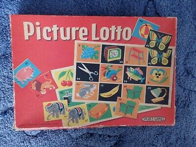 Picture Lotto Spear's Games – Vintage board game boxed