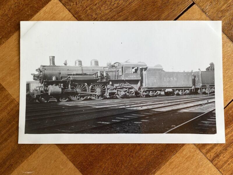 Chicago North Western Railroad Steam Engine Locomotive 1088 Vintage Photo C&NW
