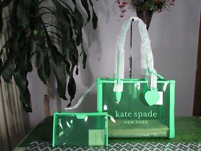 NWT Kate Spade Market See-through Medium Tote Green
