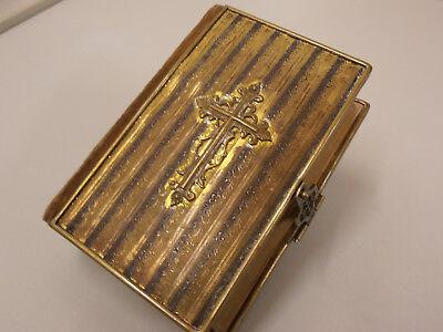 schönes kath. Gebetbuch, Geistliches Senfkörnlein, Schließe, Messingeinband, RAR