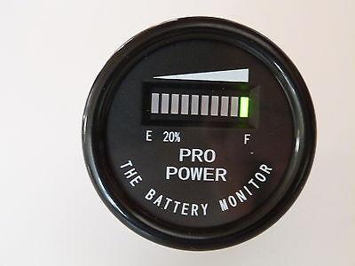 12 Volt Golf Battery Indicator - Works w/ All Lead Acid Batteries, Exide, Trojan