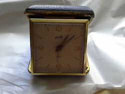 Vintage Bradley Travel Alarm Clock Wind Up Portable Folding Case Japan Works