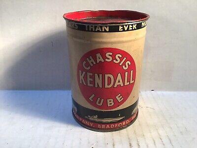 Vintage Kendall Lube Can Oil gas rare Handy Quart Tin Sign Deep Rock Whiz Oilzum
