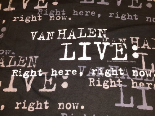 Van Helen Band 1993 Vintage Tour Right Here Right Now North American Tour LARGE
