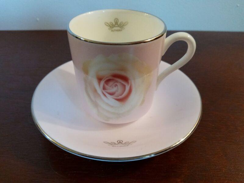 Althorp Rose Bone China Princess Diana Commemorative Cup & Saucer - Very Rare