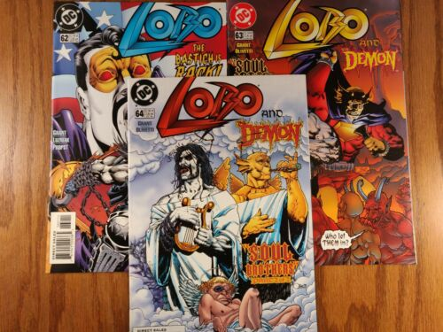 LOBO vol 2 #62, 63, 64 Scarce FINAL Last ISSUES (DC 1993-1999) NEAR MINT Low Run
