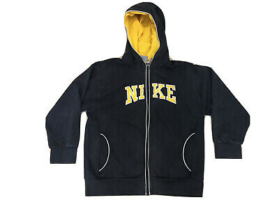 Mens Nike Black Hooded Jumper Pull Over Hoody - Fits Small