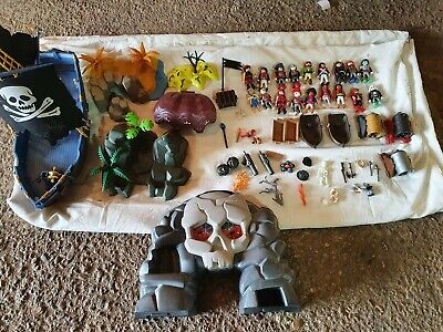 Large Playmobil Bundle, Pirate Ship, People, Pirates, Islands, boats lots more