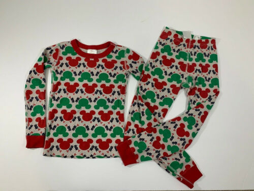 Kids HANNA ANDERSSON Size 130 US 8 Organic Cotton Disney Mickey Mouse Christmas
