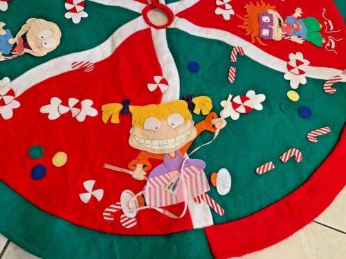 Vintage Christmas Tree Skirt Felt RUGRATS 1998 Rug Rats Nickelodeon HOLIDAY
