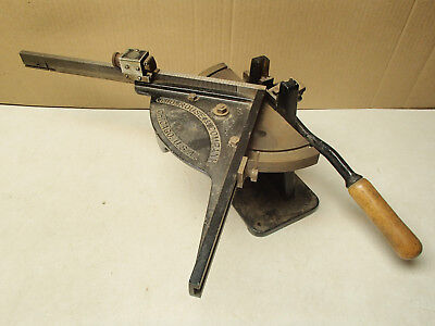 (H.B. Rouse & Company antique printer's lead type bevel/miter cutter)