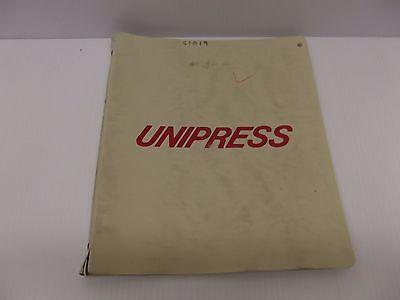 Unipress C1019 Mushroom Top Steam Press Users Manual