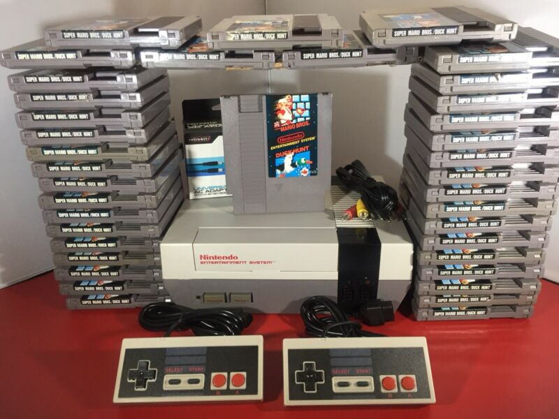 Original Nintendo Nes Console  + Super Mario Bros - LED Mod - Refurbished