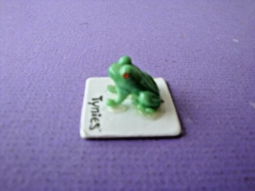 """Rog Green Frog #58 2010 Tynies 1/2"""" Tall Figure Glass Toy"""
