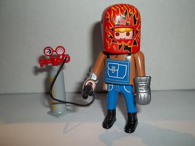 Playmobil,WELDER with WELDING TANK,Series #14 Figure