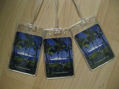 American Hawaii Cruises Luggage Tags   Ss Independence Playing Card Boat Tag  3