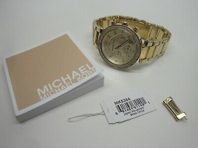 Michael Kors Women's Chronograph Parker Gold-tone Stainless Steel Watch MK5354