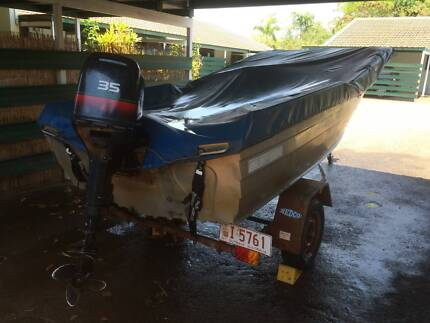 STACER 390 BOAT - TINNIE - TINNY, EVINRUDE ELAN 35, REDCO TRAILER Leanyer Darwin City Preview