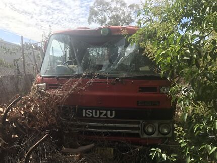 Damaged Isuzu tipper