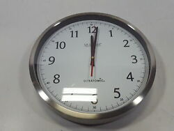 La Crosse Technology 404-1235UA-SS 14 Inch Analog Stainless Steel Wall Clock