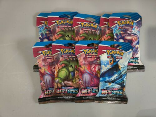 Pokemon Booster Pack X18 Lot Sword Shield/Vivid Voltage/Battle Styles 3  - $66.00