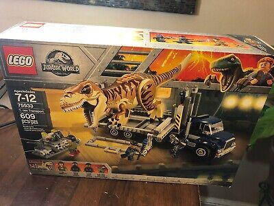 LEGO Jurassic World T. Rex Transport Set # 75933 NIB, SEALED, AWESOME dinged box