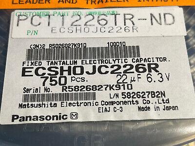 Tantalum Capacitor 22uf 6.3v Smd20 Case C50pcspanasonic