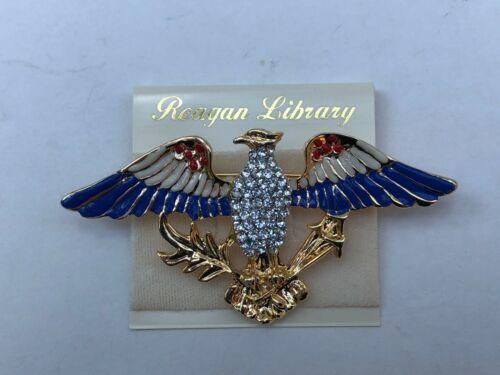 Presidential Ronald Reagan Pave Gold Eagle Pin
