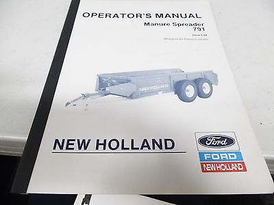 New Holland Manure Spreader 791 Operators Manual